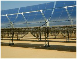 Figure 1 SEGS Solar field in Mojave Desert, California. Image courtesy of SunLabs, Dept. of Energy